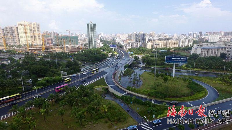 海口海府路改造完工 已恢复正常通行