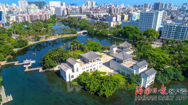海口东湖公园生态修复后美如画