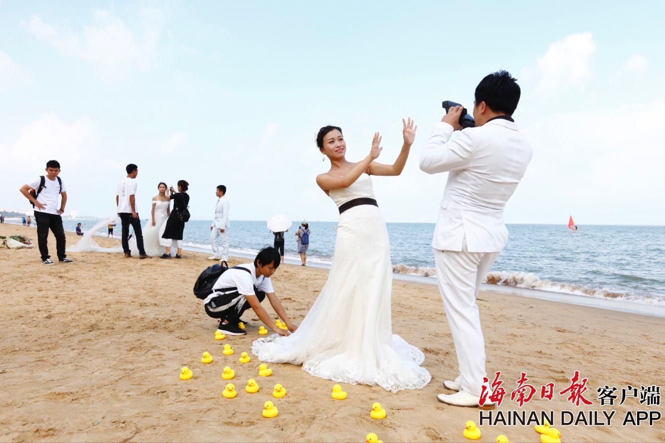 组图|海口西秀海滩成婚纱照取景胜地