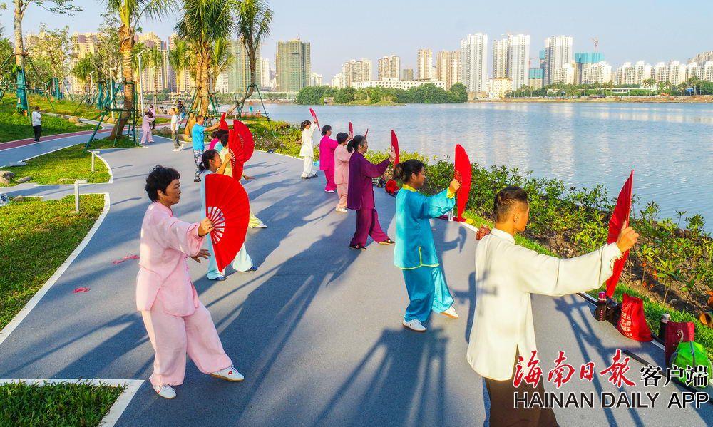 组图|海口红城湖还岸于民 提升市民幸福感