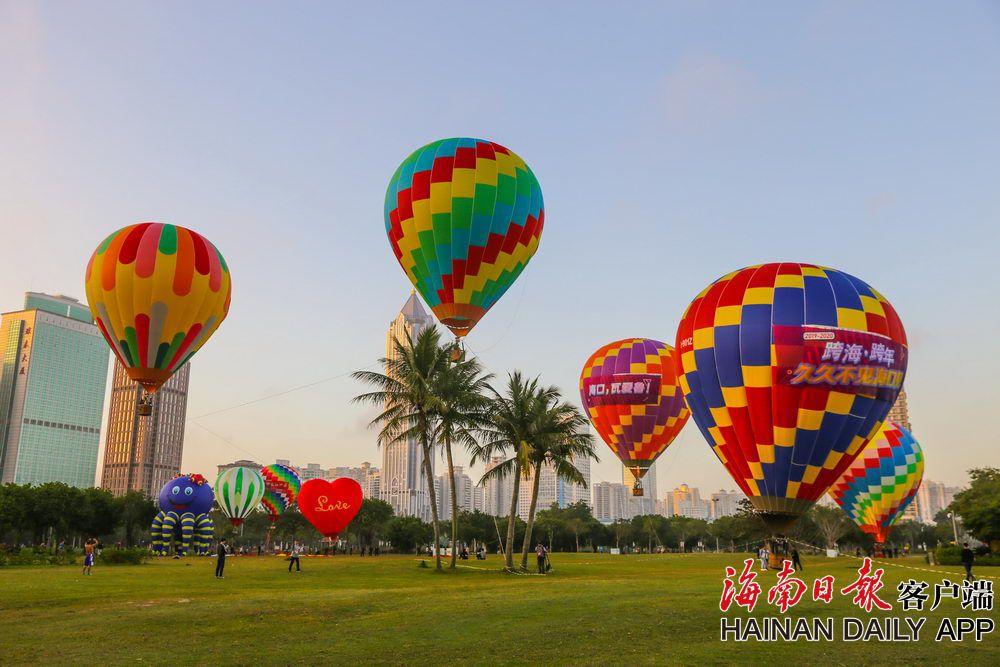 海口:乘热气球体验飞行