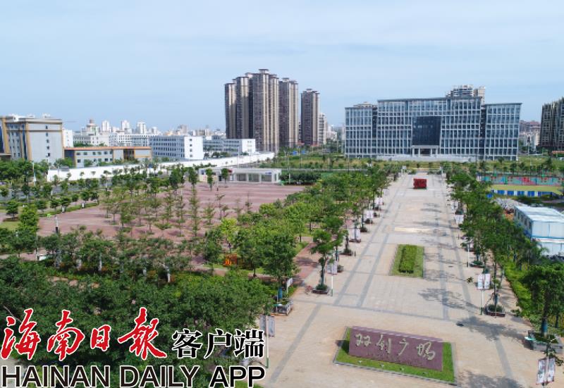 琼山区双创广场建成开放为海口首个核心价值观主题公园