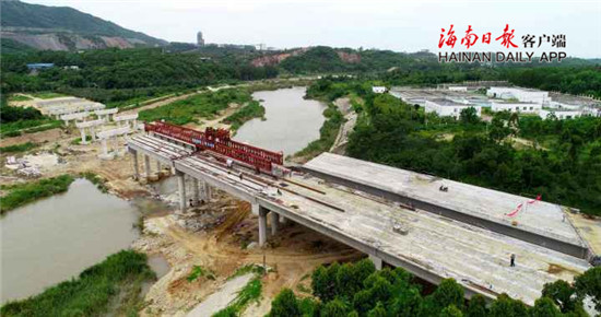 昌江石碌河第三大桥工程今年底竣工