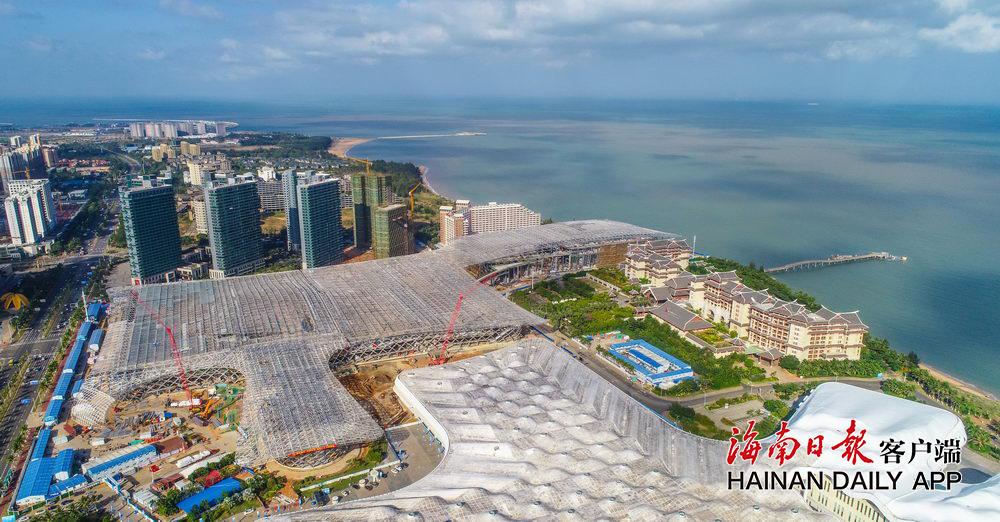 海南国际会展中心二期项目地下主体结构完成