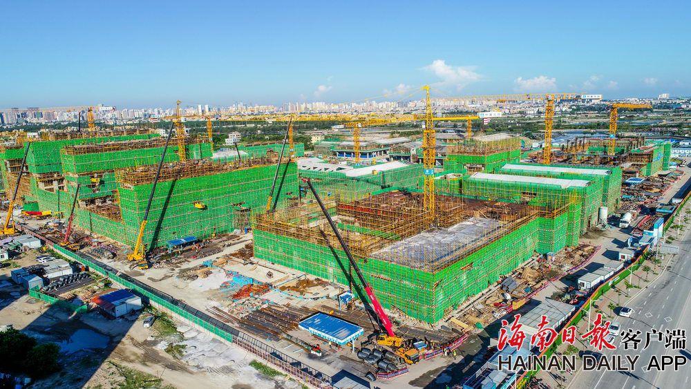 海南省委党校新校区项目7栋建筑已封顶
